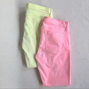 🍭Current/Elliott BUNDLE Neon Skinny Jeans